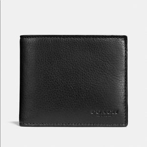 Coach $180 NWT Leather Bifold Wallet & Card Holder
